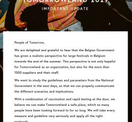 Tomorrowland 2021 Belgium